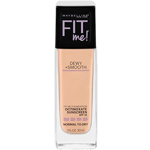 Maybelline New York Fit Me Dewy + Smooth Foundation, Buff Beige, 1 fl. oz.(Packaging May Vary)