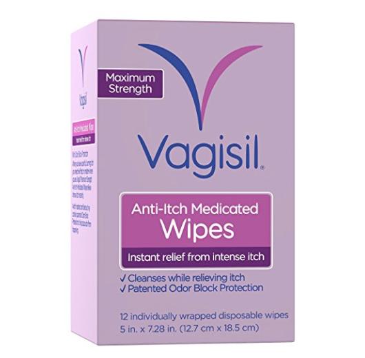 Vagisil 女性护理湿巾12片