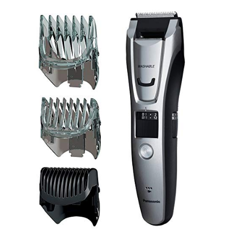 Panasonic ER-GB80-S Body and Beard Trimmer, Hair Clipper, Men's, Cordless/Corded Operation with 3 Comb Attachments and and 39 Adjustable Trim Settings, Washable