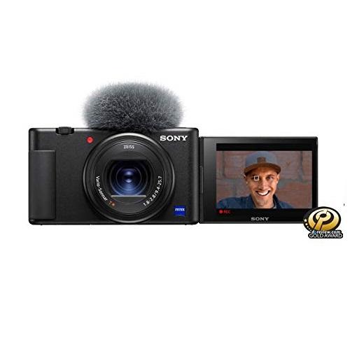 史低价!Vlog神器!Sony 索尼ZV-1 数码相机, 一键美颜/虚化/带货对焦