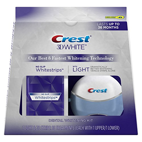 Crest 3D White Whitestrips with Light, 10 ct.