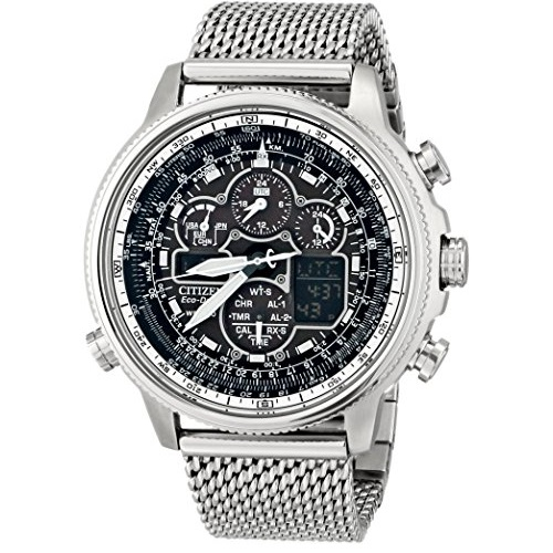 Citizen Eco-Drive Navihawk A-T Stainless Steel Men's watch #JY8030-83E