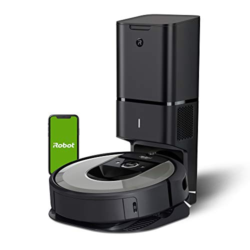 iRobot Roomba i6+ (6550) Robot Vacuum with Automatic Dirt Disposal-Empties Itself, Traps Allergens, Wi-Fi Connected,Ideal for Pet Hair, Carpets, + Digital Smart Mapping Upgrade