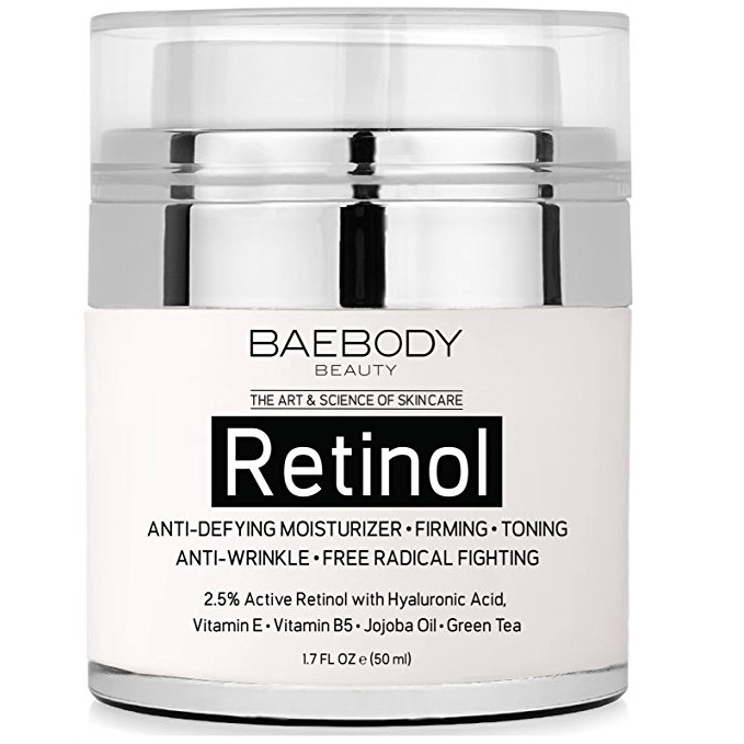 Baebody Retinol Moisturizer Cream for Face and Eye Area - With 2.5% Active Retinol, Hyaluronic Acid, Vitamin E. Anti Aging Formulas. Best Day and Night Cream 1.7 Fl. Oz