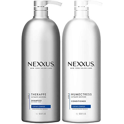 Nexxus 顶级品牌保湿 洗发水 + 护发素超值套装,33.8oz/瓶,共2瓶