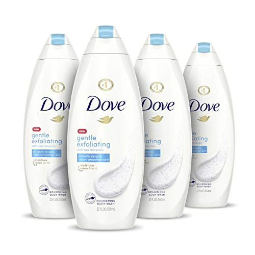Dove Body Wash Instantly Reveals Visibly Smoother Skin Gentle Exfoliating Effectively Washes Away Bacteria While Nourishing Your Skin 22 oz, 4 Count