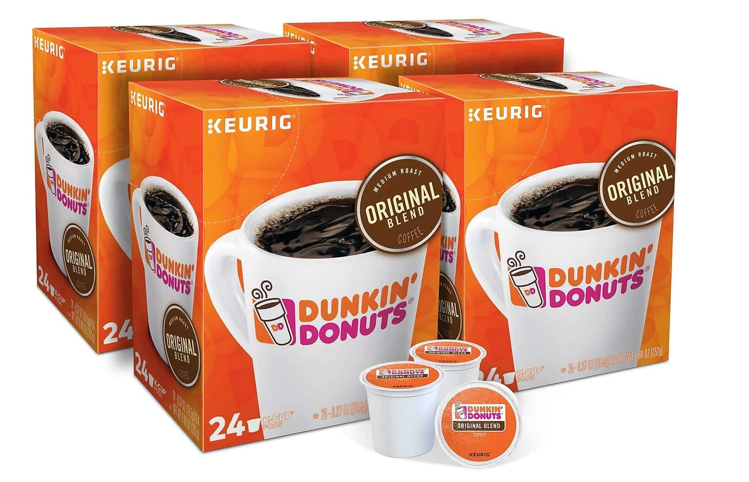 Dunkin Donuts Original Blend Coffee K-Cup Pods 96-Pack