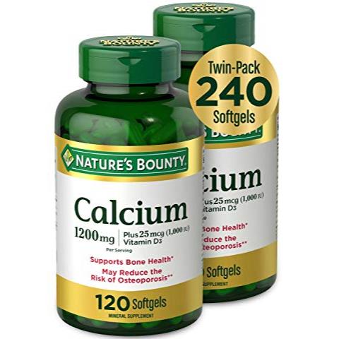 Nature's Bounty 自然之宝 液体钙+VD软胶囊1200mg,120粒/瓶,共2瓶