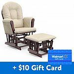 Storkcraft Bowback Glider and Ottoman + $10 Walmart Gift Card