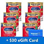 6-Ct 32-oz Enfagrow Vanilla Toddler Powder Formula + $30 Walmart GC