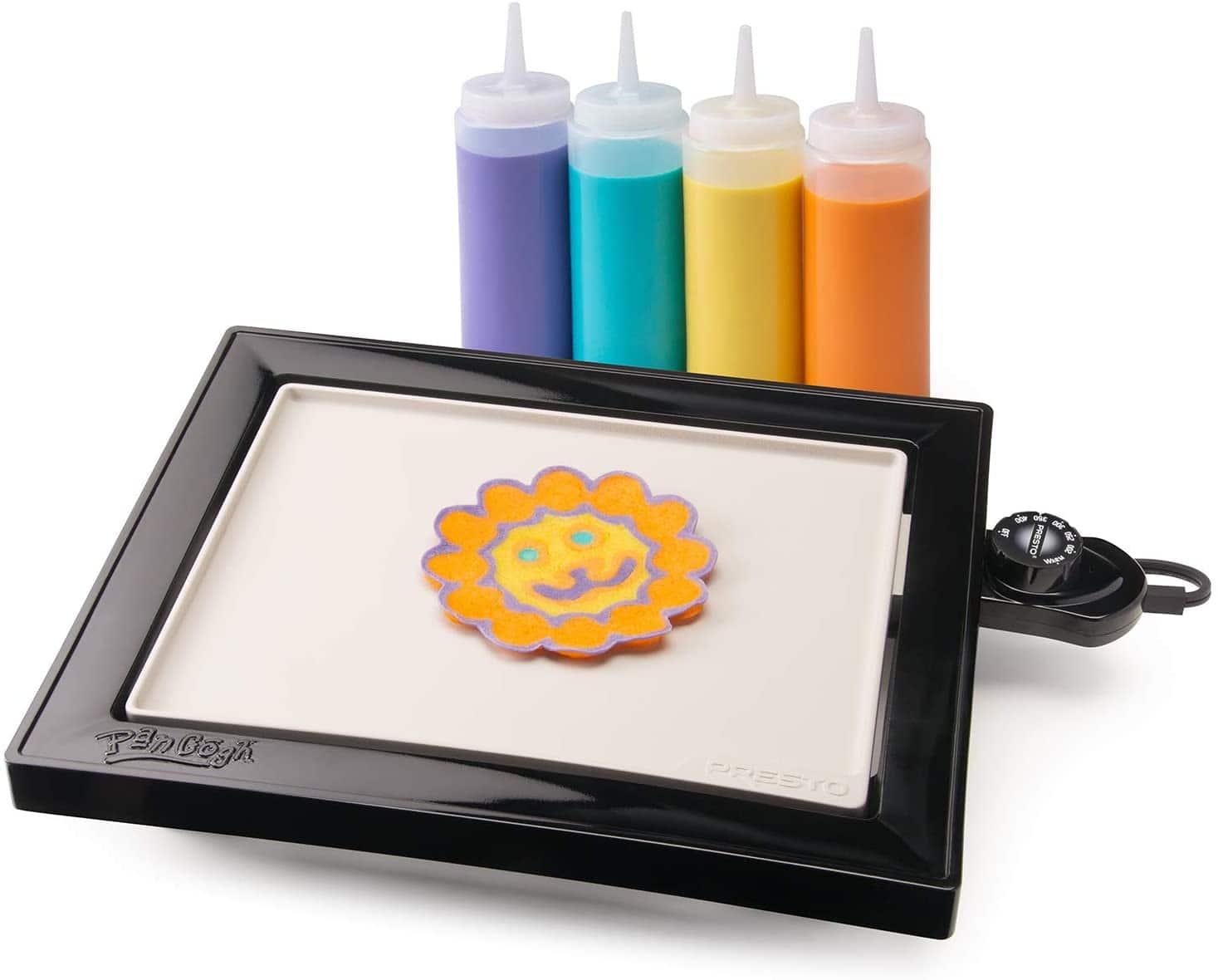 Presto PanGogh Pancake Art Kit w/ Cool-Touch Griddle