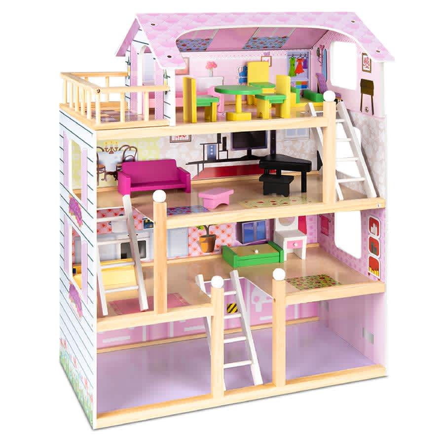 Best Choice 4-Level Kids Wooden Dollhouse