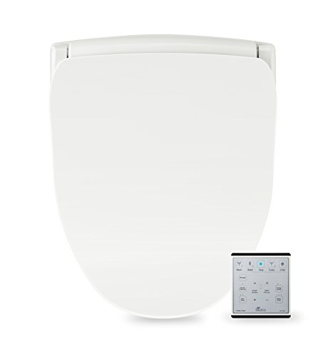 BioBidet Slim Two Smart Toilet Seat in Round White with Stainless Steel Self-Cleaning Nozzle, Nightlight, Turbo Wash, Oscillating