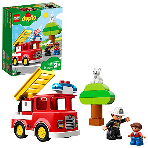 LEGO Duplo Town Fire Truck 10901 Building Blocks , New 2019 (21 Piece)