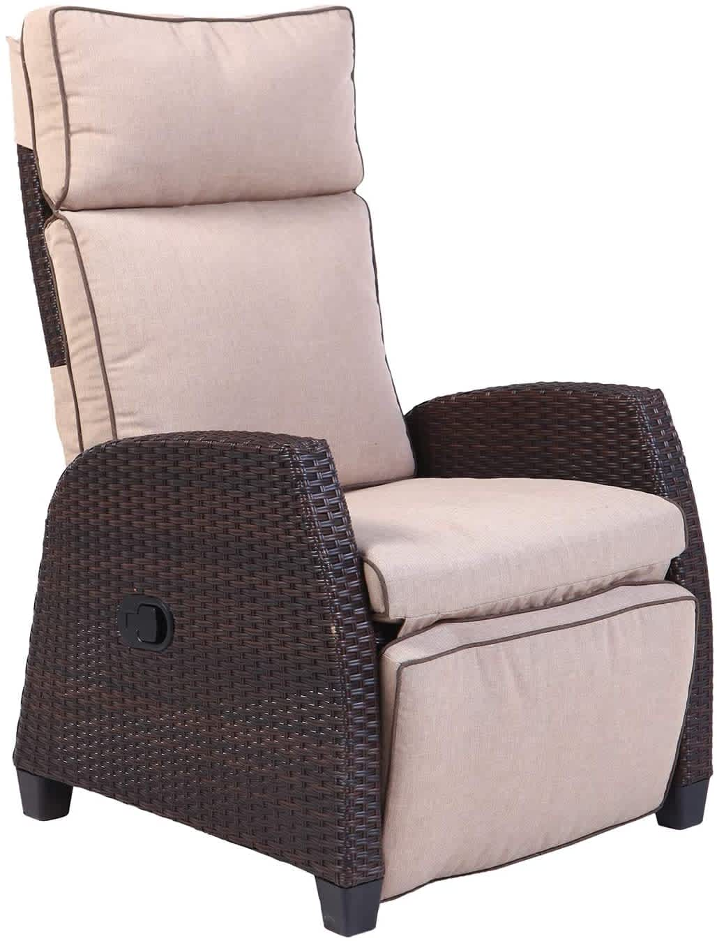 Grand Patio All-Weather Wicker Recliner