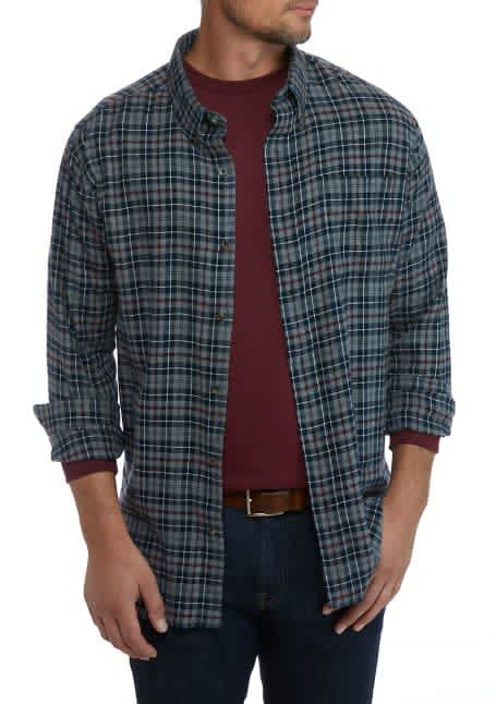 Crown & Ivy Men's Plaid Flannel Shirt