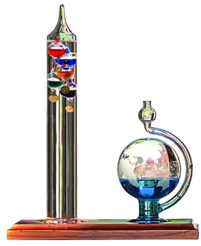 Acurite Galileo Thermometer with Glass Globe Barometer