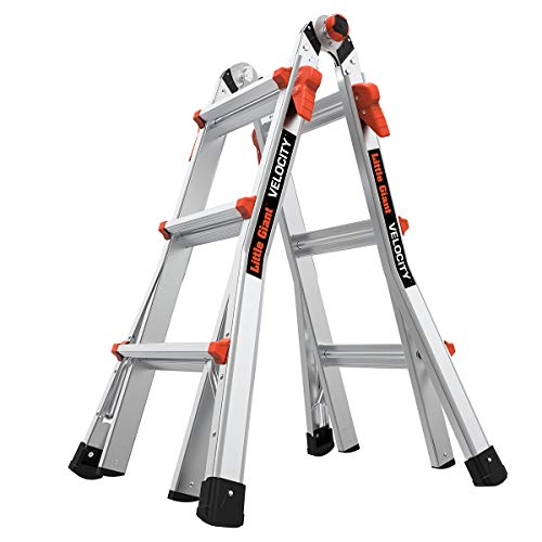 Little Giant Ladder Systems 15413-001 Velocity 300-Pound Duty Rating Multi-Use Ladder, 13-Feet