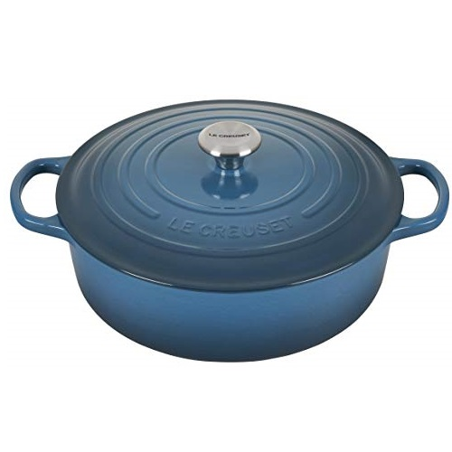 Le Creuset Enameled Cast Iron Signature Round Wide Dutch Oven, 6.75 qt., Deep Teal