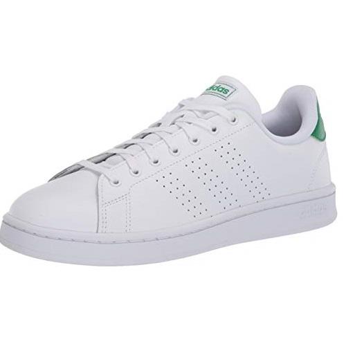 Adidas阿迪达斯  Advantage 女士经典 绿尾 小白鞋/网球鞋