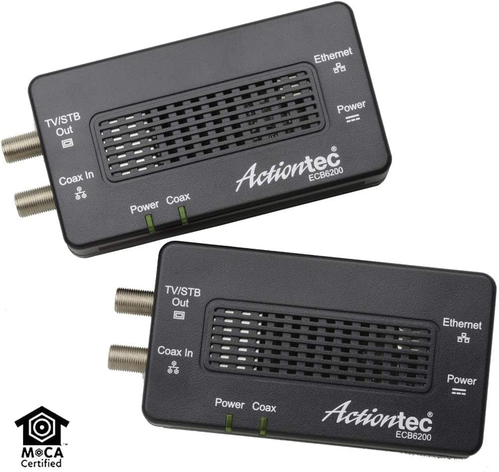 2-Pack Actiontec Bonded MoCA 2.0 Wired Network Adapter