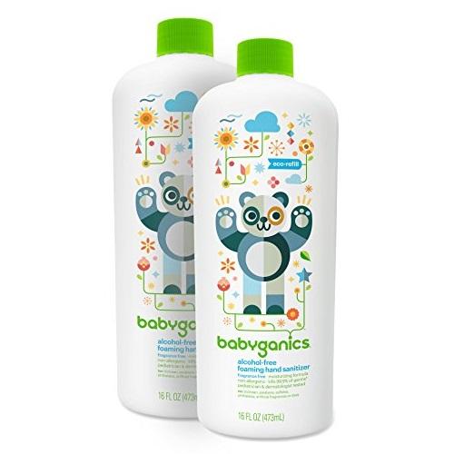 Babyganics甘尼克宝贝  儿童免洗洗手液,无香型,16oz/瓶,共2瓶