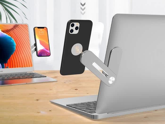 Magnetic Smartphone Laptop Side Mount