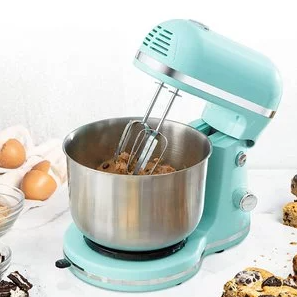 Delish by Dash Compact Stand Mixer 3.5 Quart with Beaters & Dough Hooks Included - Aqua, DCSM350GB