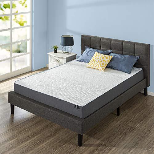 ZINUS 10 Inch Green Tea Pressure Relief Gel Memory Foam Mattress/Cooling Mattress/Zoned Airflow Design/Bed-in-a-Box, Queen