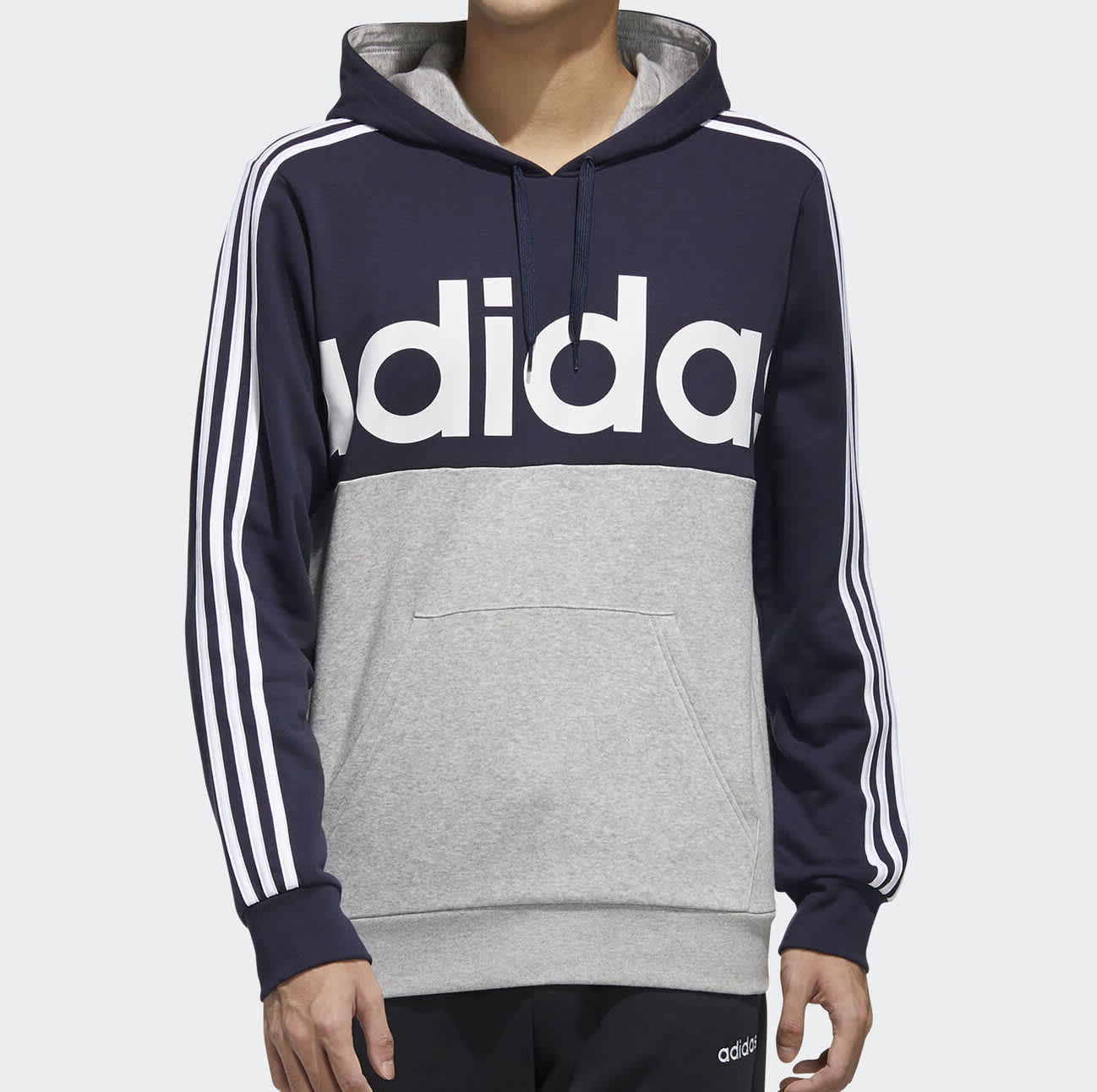 adidas Essentials Men's Colorblock Pullover Hoodie