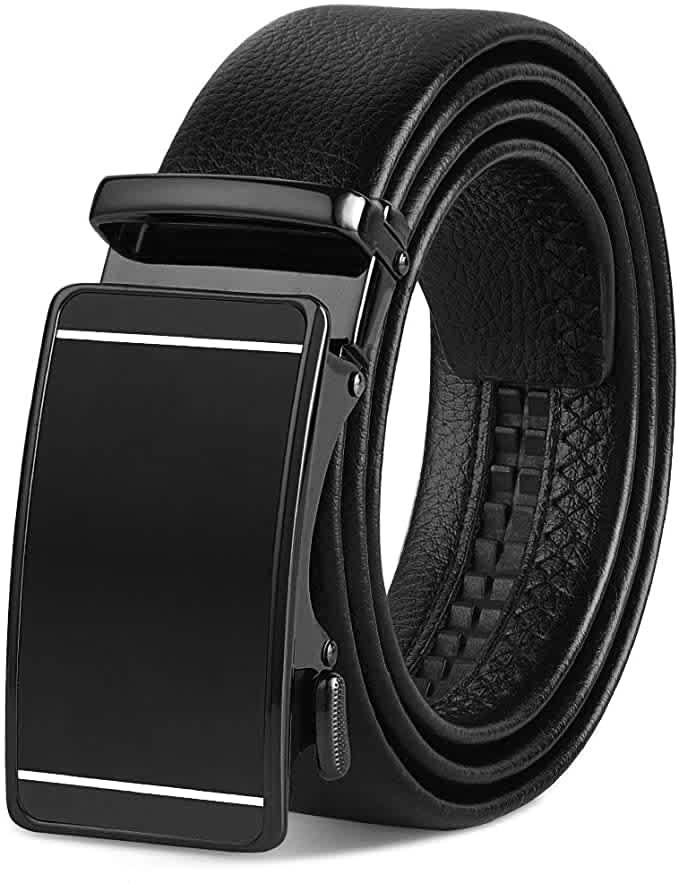 Vbiger Men's Leather Dress Belt