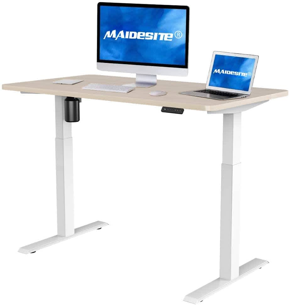 """MAIDeSITe 55"""" x 27.6"""" Electric Height Adjustable Desk"""