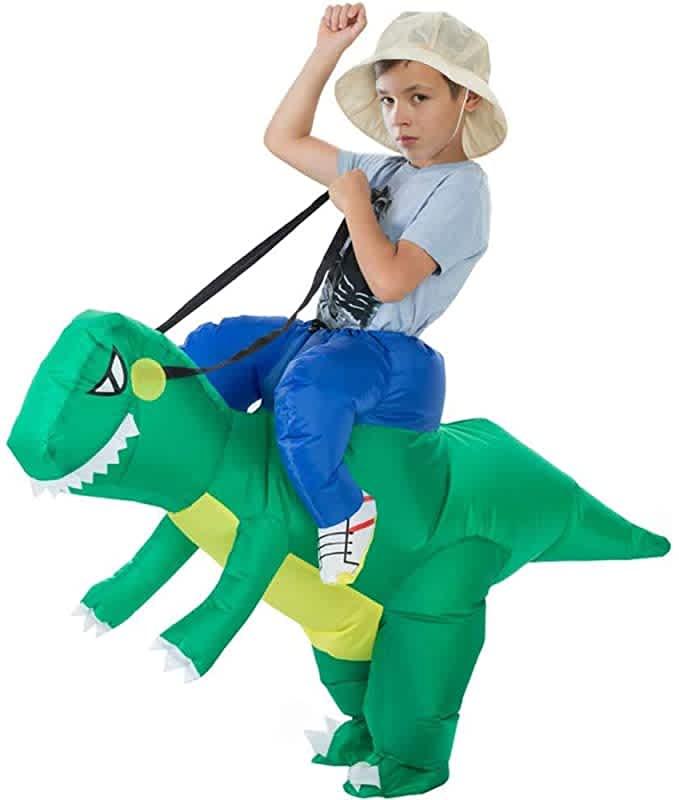 Mimitoou Kids' Inflatable Dinosaur Rider Costume