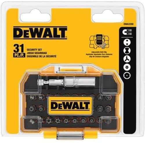 DeWalt DEWALT Screwdriver Set, Security, 31-Piece (DWAX200)