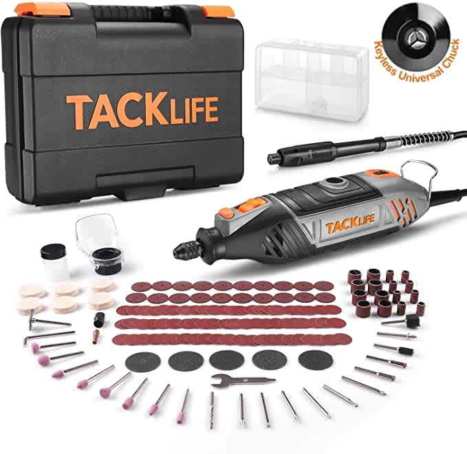 Tacklife 150-Piece Rotary Tool Kit with MultiPro Keyless Chuck
