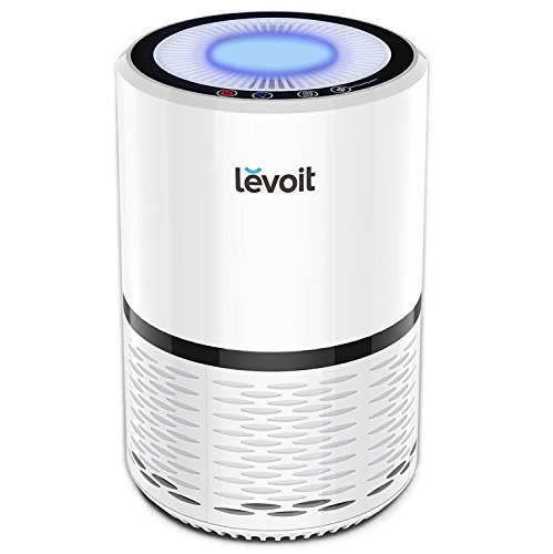 LEVOIT Air Purifier for Home Smokers Allergies and Pets Hair, True HEPA Filter, Quiet in Bedroom, Filtration System Cleaner Eliminators, Odor Smoke Dust Mold, Night Light, White, LV-H132