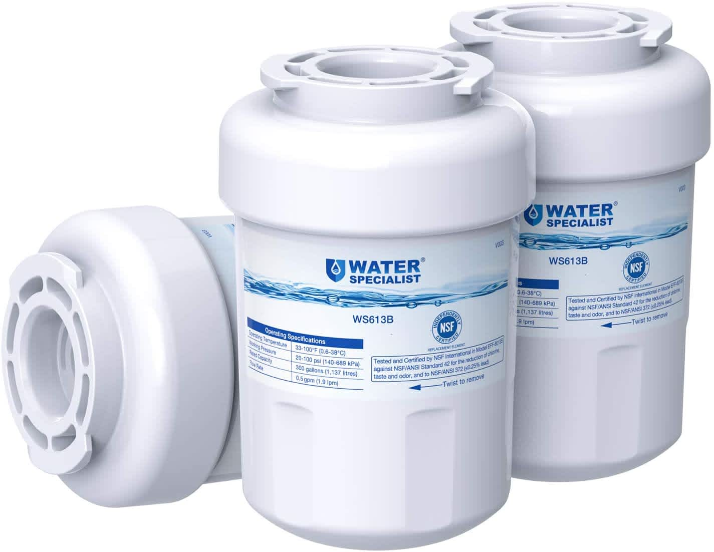 Waterspecialist MWF Refrigerator Water Filter 3-Pack
