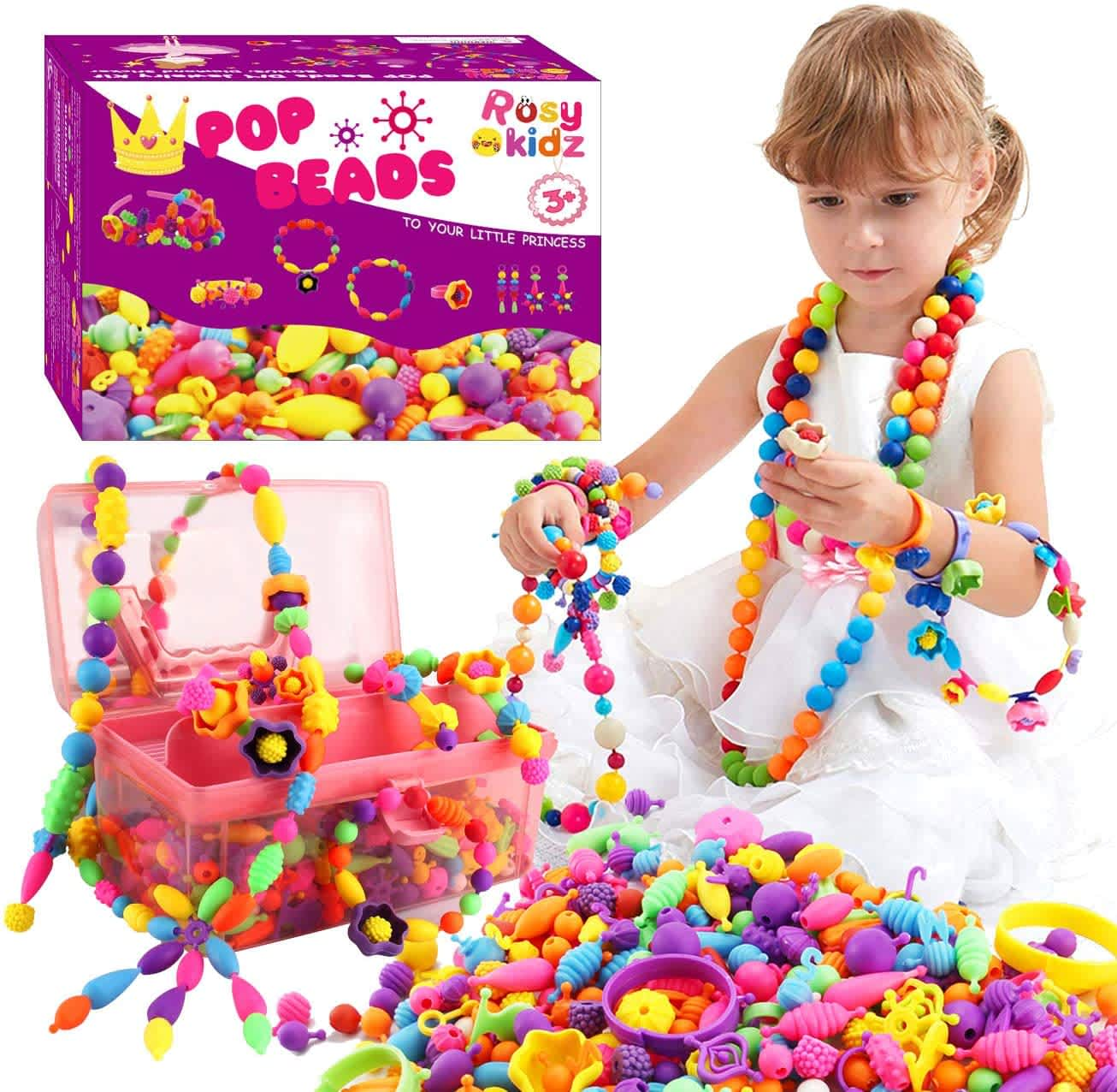Rosykidz 600-Pc. Snap Pop Beads Set