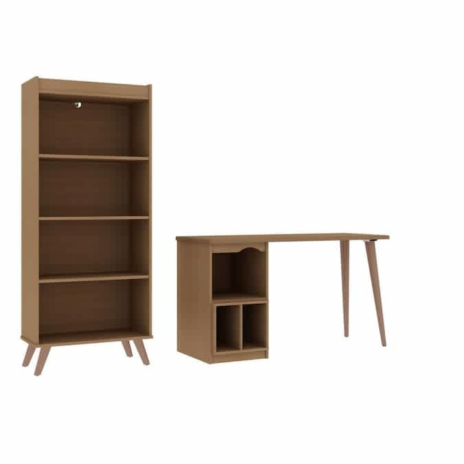 Manhattan Comfort Hampton 2-Piece Extra Storage Home Office Set