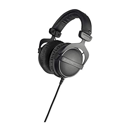 beyerdynamic DT 770 PRO 16 Ohm Over-Ear Headphones (Ninja Black, Limited Edition) - Ideal for Xbox ONE, PS4, PC Gaming, Streaming, Podcasts, and Smartphones - Made in Germany