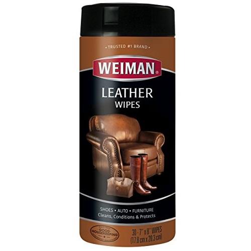 Weiman 皮革清洁滋养护理湿巾, 30片装