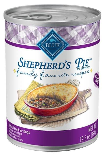 12-Pk 12.5-Oz Blue Buffalo Family Favorite Sheperd's Pie Recipe Canned Dog Food