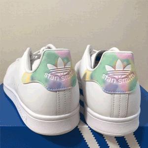 Adidas阿迪达斯三叶草 STAN SMITH扎染尾女款板鞋