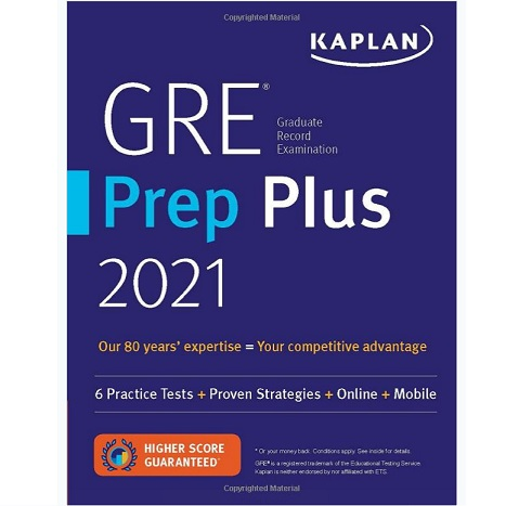 Kaplan  GRE Prep Plus 2021 Paperback – June 2, 2020
