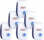 Ultrasonic Plug in Electronic Indoor Pest Repeller- 6 Pack