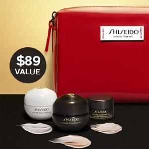 Shiseido资生堂全场护肤美妆满$100送自选7件套