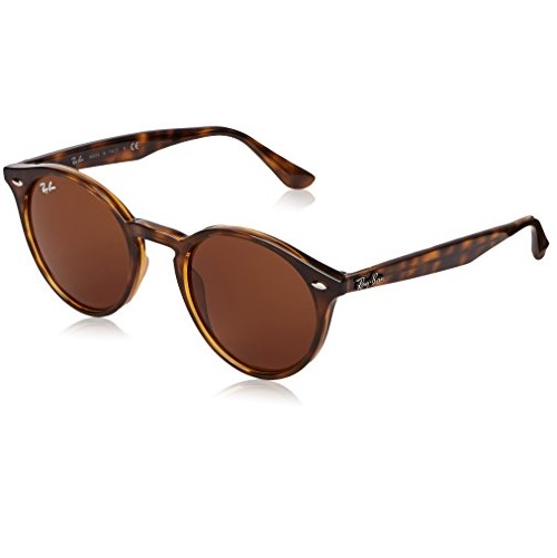 Ray-Ban Men's 0RB2180 Square Sunglasses, Dark Havana Dark & Brown, 50 mm