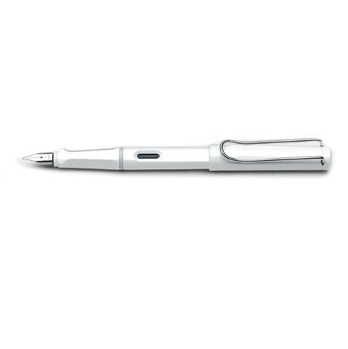 Lamy Safari White Fountain Pen - Fine Nib L19-WE-F