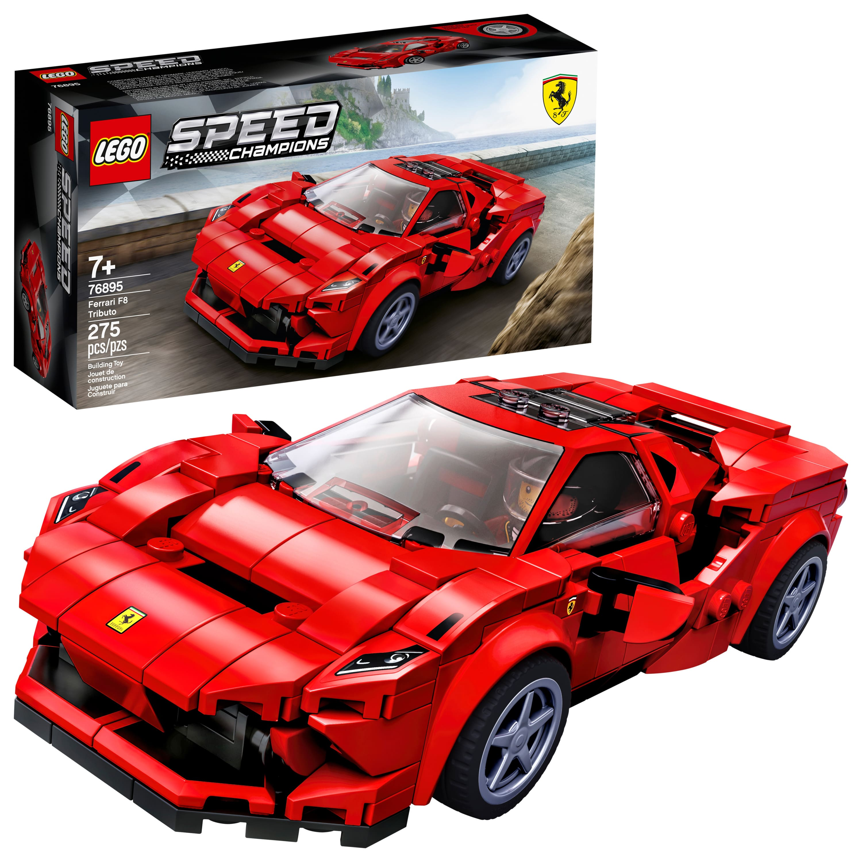 275-Piece LEGO Speed Champions Ferrari F8 Tributo Building Kit