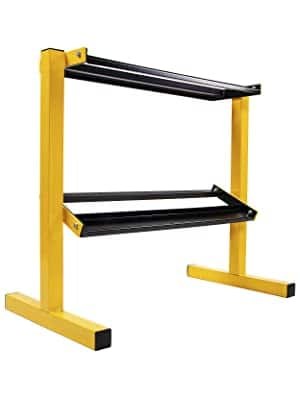 BalanceFrom 2-Tier Easy-Grab Dumbbell Rack (600-Lb Capacity)